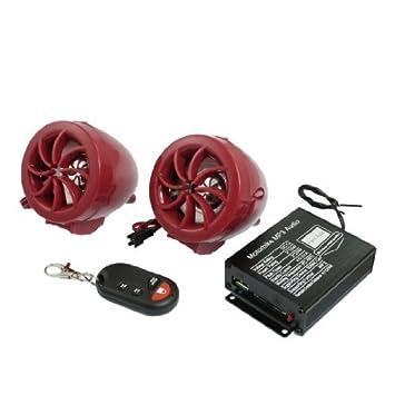 DealMux Plastic ATV Sound System Monte Motocicleta MP3 amplificador de áudio Alto-falantes estéreo 2