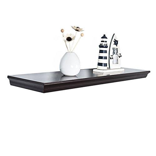 Espresso L-shape Storage Shelf (WELLAND Dover Floating Ledge Wall Shelves, 18-inch, Espresso)