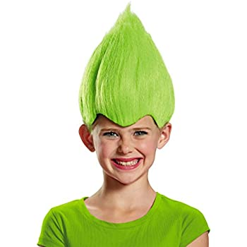 Green Wacky Child Wig, One Size Child