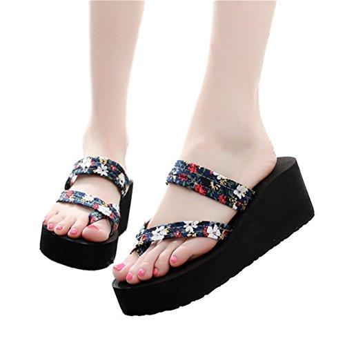 E Heel high Slippers Ladies Summer CBZ Ladies Flops flip X4T8wxFn
