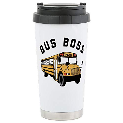 CafePress Buss Boss Stainless Steel Travel Mug, Insulated 16 oz. Coffee - Mug Driver Bus