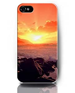 UKASE Mobil Phone Case for iPhone 5 5s with Amazing Designed Pattern of Sunset and Sea