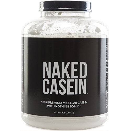 NAKED CASEIN - 5LB 100% Micellar Casein Protein from US Farms - Bulk, GMO-Free, Gluten Free, Soy Free, Preservative Free - Stimulate Muscle Growth - Enhance Recovery - 76 Servings