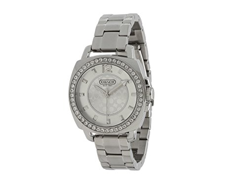 Coach Womens 14501699 Mini Boyfriend Silver Tone Bracelet Watch (Womens Coach Watches Silver)