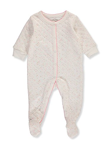 Sterling Baby by Vitamins Baby Girls' Footed Coverall, Speckle, 6M