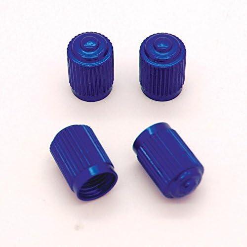 Bleu moto Ref05 voiture Lot de 4 bouchons de valve en Alu pour pneus de v/élo