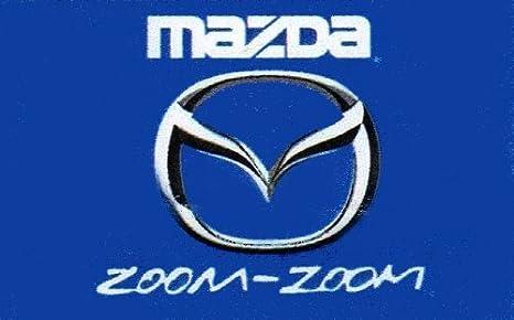 Amazon Com Mazda Zoom Zoom Car Flag 3 X 5 Indoor Outdoor Banner