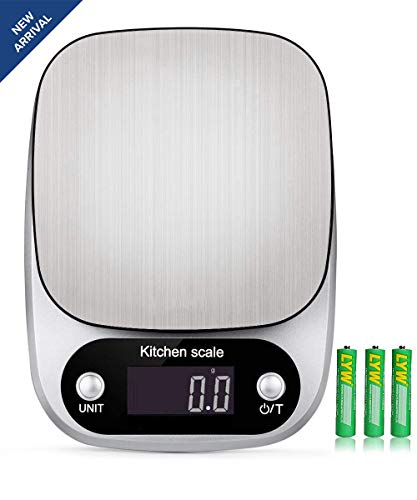 Scale 3000 (Digital Kitchen Food Scale 3000g/0.1g Multifunction Weight Scale Gram and Ounces, Electronic Jewelry Scale High Precision LCD Display/Stainless Steel/Tare/G OZ LB ML FL.OZ/Batteries Included)