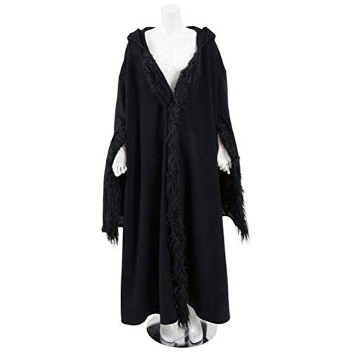 Womens Black Robe Hero Diana Princess Cosplay Cloak Halloween Costumes
