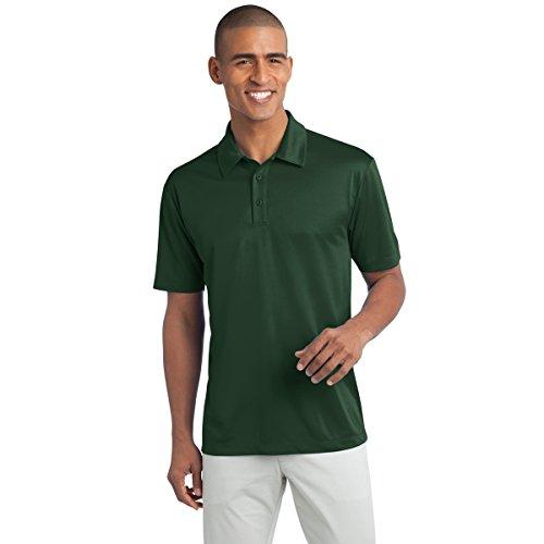 Mens Big & Tall Short Sleeve Moisture Wicking Silk Touch Polo Shirt, 3XLT, Dark Green