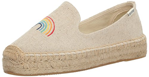 Soludos Womens Rainbow Platform Smoking Slipper Flat Sand