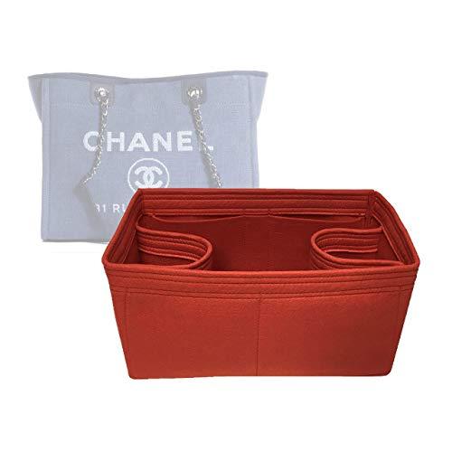 Zoomoni Chanel Deauville Tote (Small) Purse Organizer Insert - Premium Felt (Handmade/20 Colors)