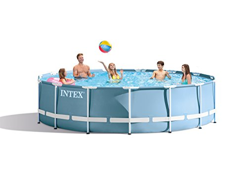 "Intex 15' x 33"" Prism Frame Above Ground Swimming Pool Set with Pump 