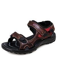 Kunsto Women's Genuine Leather Outdoor Athletic Sport Sandal