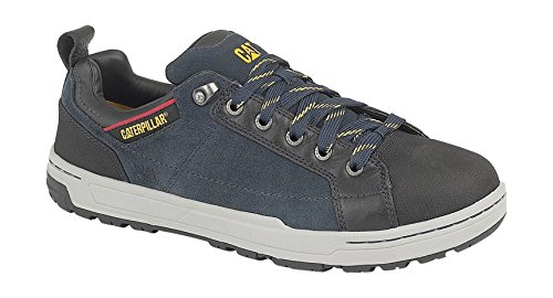 Caterpillar Lace-up Textile Lined Mens Safety Shoes - Navy Size 12