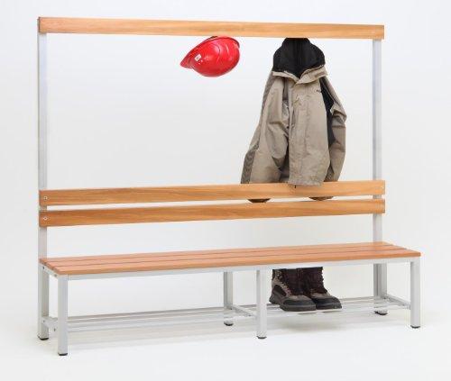 Garderoberückwand (1-seitig) + 1 x Sitzbank, HxBxT:170x200x30 cm, mit Schuhrost, Marke: Szagato (Umkleidesitzbank, Umkleidebank, Garderobenbank, Bank)