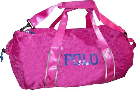 32cac0295e05 Polo Ralph Lauren Lightweight Nylon Bowery Packable Duffel Bag  Fuchsia Royal OS