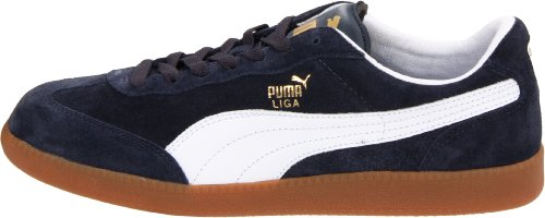 huge selection of 2430d db336 Puma Unisex Liga Suede Classic Sneaker, New Navy/White, 7 D ...