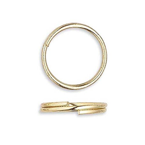 100 Plated Steel 10mm Round Double Loop Split Ring Jewelry Findings (Gold Plated)