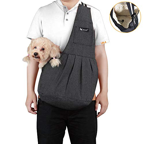 - baobë Small Dog Cat Carrier Sling Hands Free Pet Bag Light Weight Pet Carrier Bag with Adjustable Strap for Small Dog Cat Puppy to 11LB(L)
