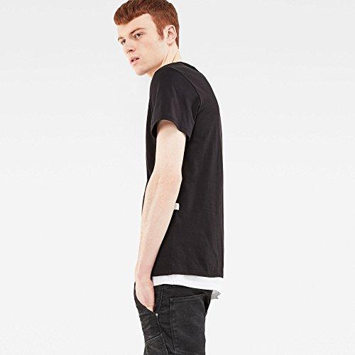 G Star Herren T-Shirt schwarz Schwarz  XS