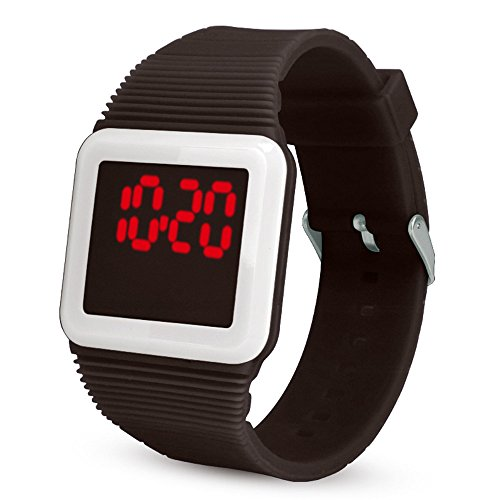 Price comparison product image WoCoo Watches, Electronic Digital LED Silicone Watch Wristwatch Bracelet for Children(Black)