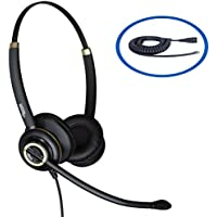 Discover D712 Binaural Corded Headset For Shoretel IP230, IP230G, IP530, IP565, IP565G, IP655, IP265, IP560 and 560G Desk Phones