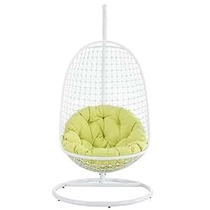 Moderno al aire libre Swing silla de salón blanco