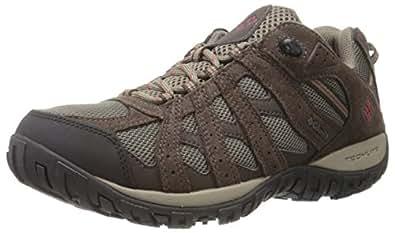 Columbia Redmond Waterproof, Zapatillas de Senderismo Para Hombre, Marrón (Mud/Garnet Red), 40 EU