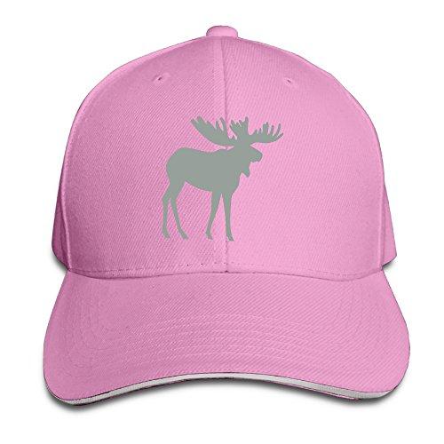 Moose Stag Or Raindeer Pattern Style Caps Sandwich Peaked Cap -