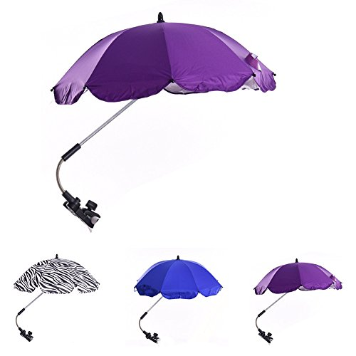 Katech Detachable Stroller UV Protection Umbrella Adjustable Baby Pram Pushchair Sun Shade Parasol with Universal Clamp by Katech (Image #2)