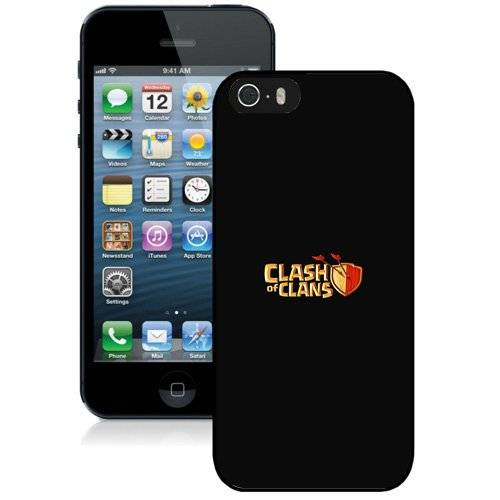 Coque,Fashion Coque iphone 5S Game Clash Of Clans Minimal Noir Noir Screen Cover Case Cover Fashion and Hot Sale Design