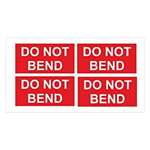 Do not bend parcel stickers office products for Amazon gelbsticker