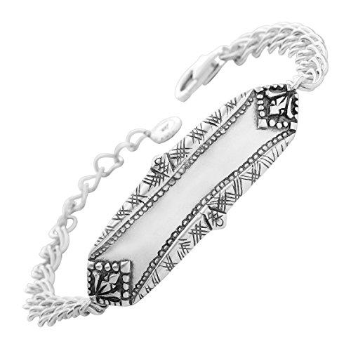 Silpada 'Make Your Mark' Sterling Silver Link Bracelet, 7.25