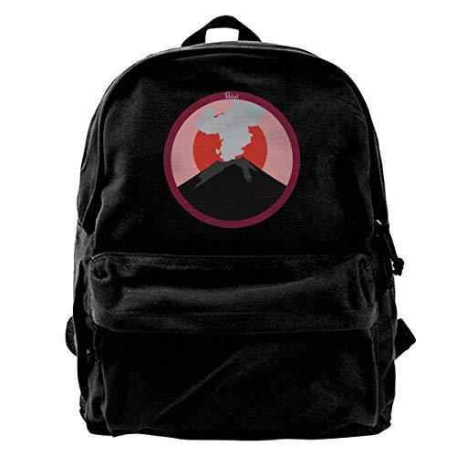 (Homyh Rebel Volcano. Unisex Classic Canvas Travel School Backpack Fits 14 Inch Laptop)