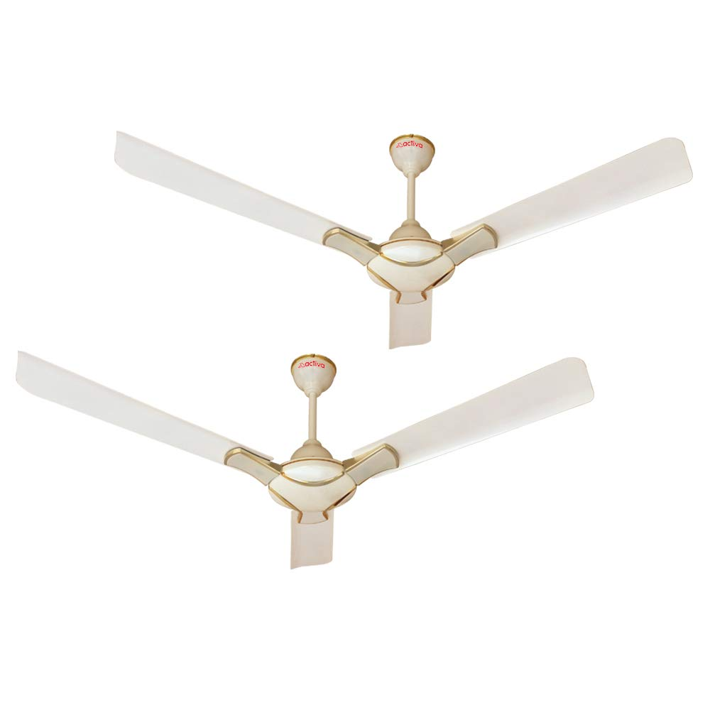 Anti DUST Coated Ceiling Fan Activa 1200MM High Speed 390 RPM BEE Approved 5 Star Rated 100% Copper Corolla