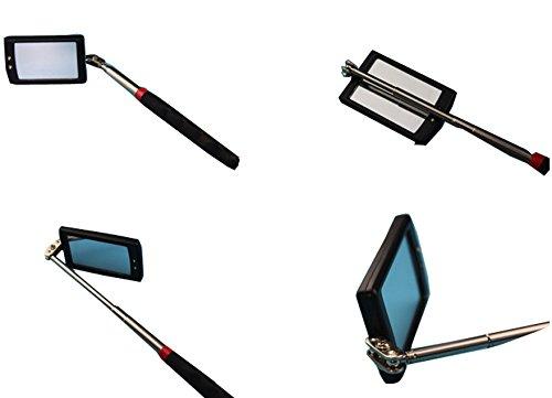 WKBY Verschiebbare LED Beleuchteten inspektion Spiegel 360 swive f/ür zus/ätzliche anzeige allgemeine Instrumente