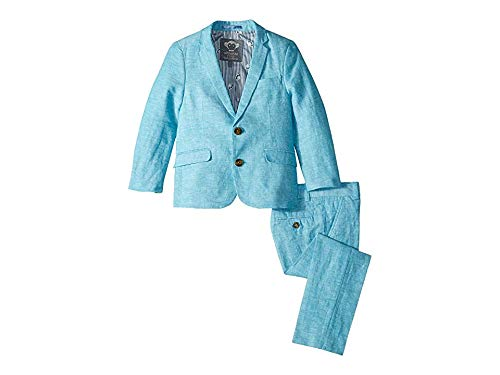 Appaman Kids Baby Boy's Mod Suit (Toddler/Little Kids/Big Kids) Scuba Blue 2T (Linen Suit For Toddlers)