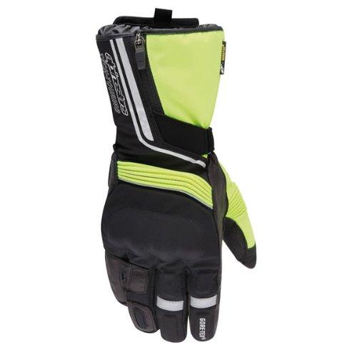 Alpinestars Jet Road Gore-Tex Waterproof Textile Gloves Black Fluorescent Yellow S/Small