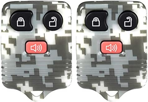 with DIY Programming Mercury PartsWorldCanada 2x New Camouflage Keyless Entry 4 Buttons Fobik Remotes Car Key Fob for Ford Lincoln etc