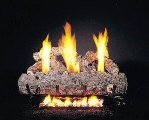 Peterson Gas Logs RDG9-20-12 20in. Golden Oak Designer Vent-Free Log Set Includes on-off Remote Control 20 Inch Golden Oak Log