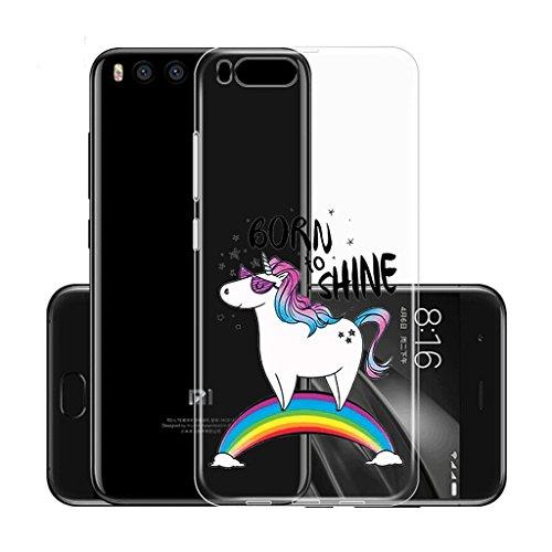 Funda para Xiaomi Mi Note 3 (No aplicable a Xiaomi Redmi Note 3) , IJIA Transparente Muchacha Romántica Falda Colorida Mariposa TPU Silicona Suave Cover Tapa Caso Parachoques Carcasa Cubierta para Xia WM110