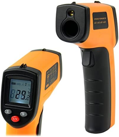 Digital Non-Contact LCD IR Infrared Thermometer Laser Temperature Gun Point GM320 -50 330 Degree Orange