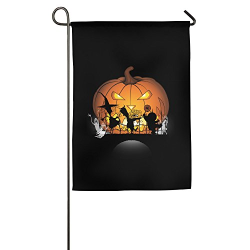 FWOVDS This Is Halloween Garden Flag 1218 Inch / 1827 Inch (Dog Halloween Parade Dallas)
