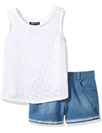Limited Too Girls' 2 Piece Lace Wrap Tank Top and Stretch...