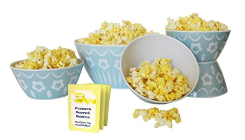 Top Dusty Blue Gourmet Popcorn Snack Bowl Set Family Game Nights Parties Popular New Fun Her Mom Mother in Law Grandma Cool Special Perfect Fathers Day Gift Idea Grandad Son Daughter Brother Uncle