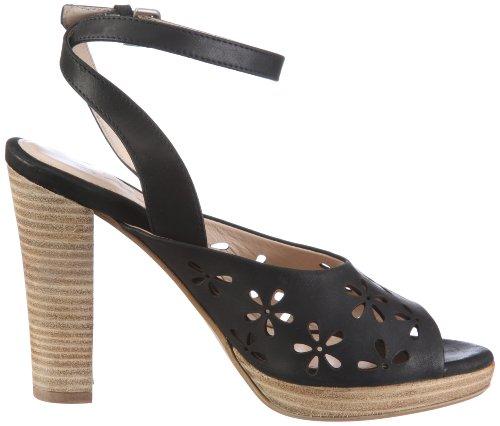 vestir 105831 Cinque de mujer de Sandalias Dawn para Negro cuero Shoes xqRwRXZ