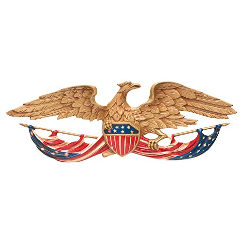 Whitehall Products Patriotic Decorative Wall Eagle, 24-Inch, Multicolored