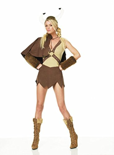 [Leg Avenue Womens Viking Cape Outfit Fancy Dress Sexy Costume, S (2-8)] (Viking Outfits For Adults)