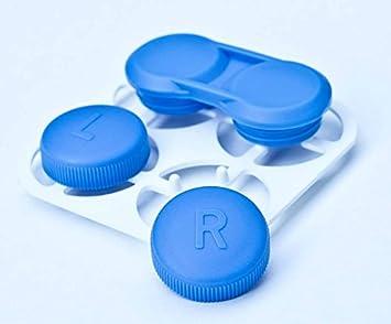 Clean Case Estuche para lentes de contacto Blanco: Amazon.es: Salud y cuidado personal